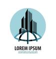 metropolis logo design template building vector image