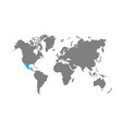 mexico is highlighted in blue on the world map vector image vector image