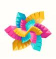 multicolored geometric vector image vector image