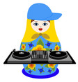 nested doll dj vector image vector image