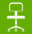 office a chair with wheels icon green vector image vector image