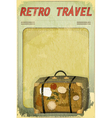 Old Suitcase on grunge background vector image vector image