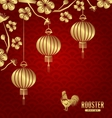 Oriental Card for Chinese New Year 2017 vector image vector image