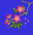 pattern 0108 oriental cherry sakura vector image