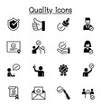 quality approved check mark icons set graphic vector image