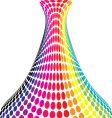 rainbow vase vector image vector image
