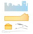 real estate banner and background set vector image