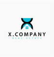 real estate initial letter x logo design template vector image vector image