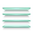 realistic horizontal windows or shelves shelf vector image vector image