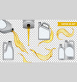 realistic motor oil transparent icon set vector image vector image