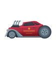 retro style red race car old sports automobile vector image vector image