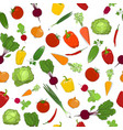 seamless pattern of fresh vegetables vector image
