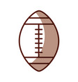 shadow american football ball cartoon vector image