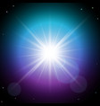 shining star in space vector image