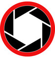 shutter symbol vector image vector image