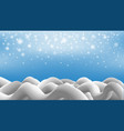 snowflake with christmas background vector image vector image
