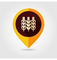 Spikelets of wheat flat mapping pin icon vector image vector image