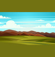 summer landscape mountain vector image vector image