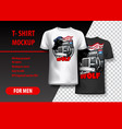t-shirt template fully editable with truck vector image vector image
