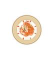 tofu kimchi vector image vector image