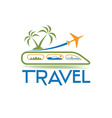 travel design template vector image vector image