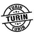 turin black round grunge stamp vector image vector image