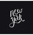 White New York Texts on Dotted Black Background vector image vector image