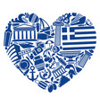 with love to greece vector image vector image