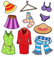 woman clothes collection vector image