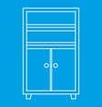 wooden cabinet icon outline vector image vector image