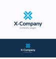x company logo vector image
