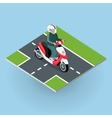 Touring Moped Motor Bike on the Road vector image