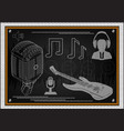 guitar microphone and man in headphones vector image