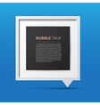 3D bubble talk frame vector image