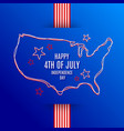 4th of july independence day design vector image