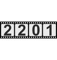 banner 2021 happy new year retro style photo film vector image