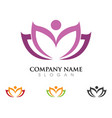 beauty lotus logo template vector image vector image