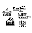 Black retro barber shop icons vector image vector image