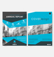blue marketing cover design template for annual vector image vector image