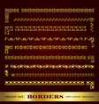 borders frames and corner elements in gold vector image
