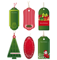 Bright Christmas tags vector image