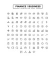 business finance line icon set vector image vector image
