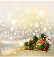 Christmas background with still life vector image vector image