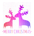 CHRISTMAS card with colorful deers vector image vector image
