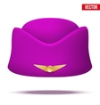 Classic Stewardess hat forage-cap of air hostess vector image