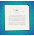 Colorful Travel Background with Copy Space vector image vector image