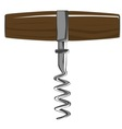 Corkscrew with wooden handle vector image