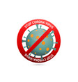 covid-19 ban icon design vector image