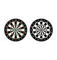 darts board target vector image