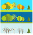 Different wheather flat design set vector image vector image